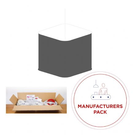 Manufacturing Pack - 30  x  40cm Rounded Square Lampshades